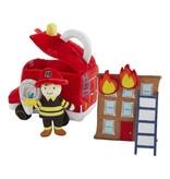 Mudpie Fire Truck Plush Set