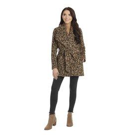 Mudpie Albany Leopard Coat Black-S