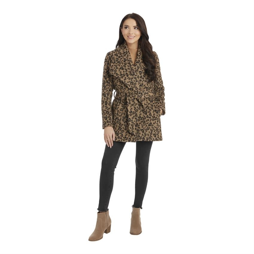 Mudpie Albany Leopard Coat Tan-XL