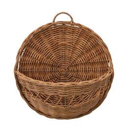 Fleurish Home Hand-Woven Rattan Wall Basket