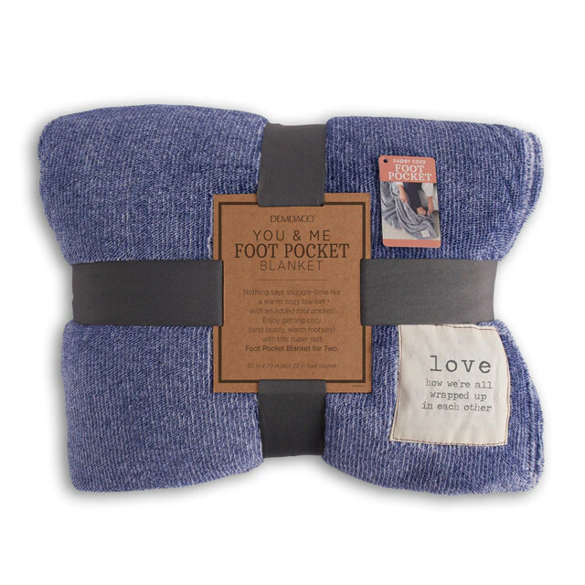 Demdaco Love Foot Pocket Blanket
