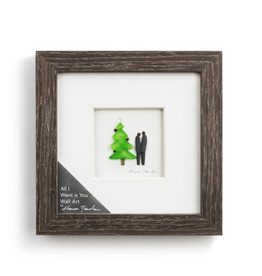 """Sharon Nowlan All I Want is You Pebble Art 6"""" Square"""