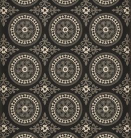 Spicher & Company Pattern #43 Vintage Vinyl Floorcloth  Karma 20x30