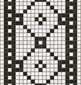 Spicher & Company Mosaic A Vintage Vinyl Floorcloth  Allerton Avenue 20x30
