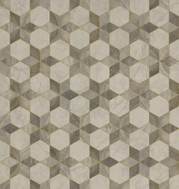 Spicher & Company Artisanry Vintage Vinyl Floorcloth  Illuminated Starlight 20x30
