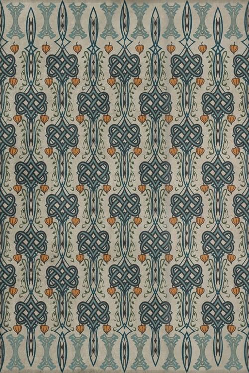 Spicher & Company Artisanry  Lord Byron Vintage Vinyl Floorcloth I Speak Not 20x30