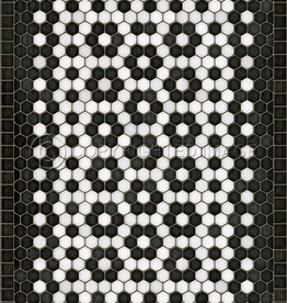 Spicher & Company Mosaic C Vintage Vinyl Floorcloth  Catherine Street 20x30