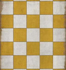 Spicher & Company Pattern #7 Vintage Vinyl Floorcloth Check Yourself 20x30