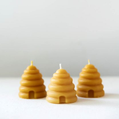 Anellabees Beehive Votive – Pure Beeswax Candle (one piece)
