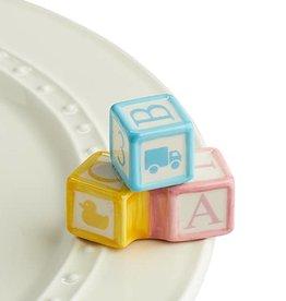 nora fleming ohhh, baby! mini (abc blocks)