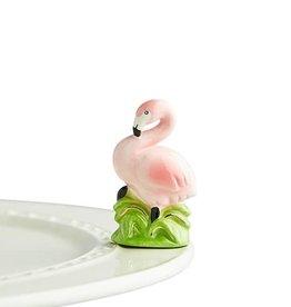 nora fleming tickled pink mini (flamingo)