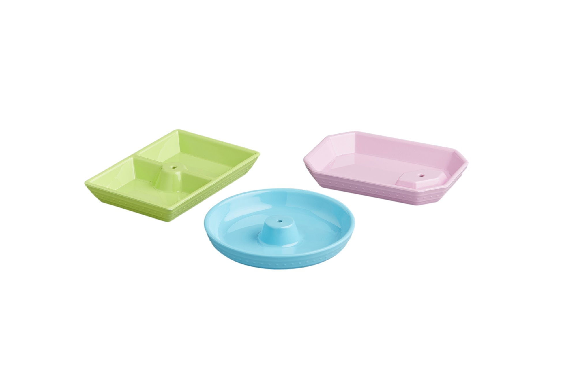 nora fleming melamine dainty dishes 3 piece set (pastels)