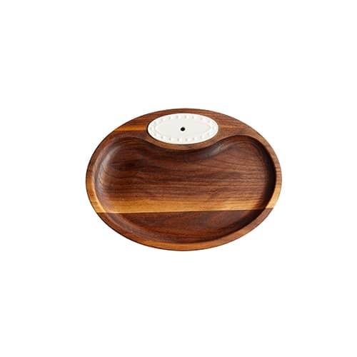 nora fleming walnut tidbit tray *retired 5/12/21