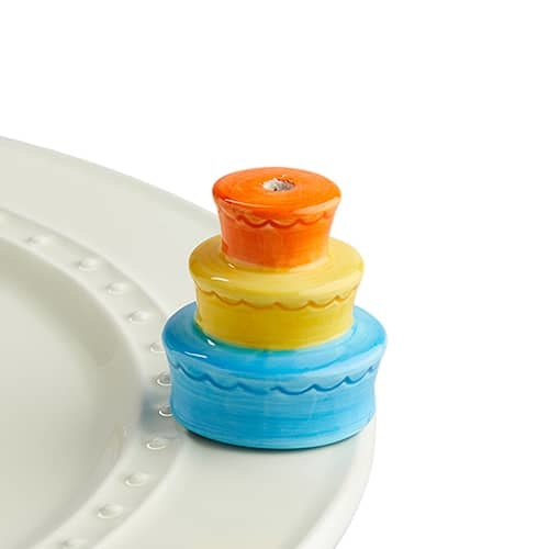 nora fleming best birthday ever! mini (stacked cake candle holder)