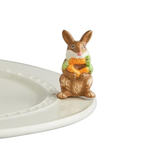 nora fleming funny bunny mini (bunny with carrots)