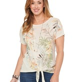 Democracy Heather Jute Tropical Printed Knit Top