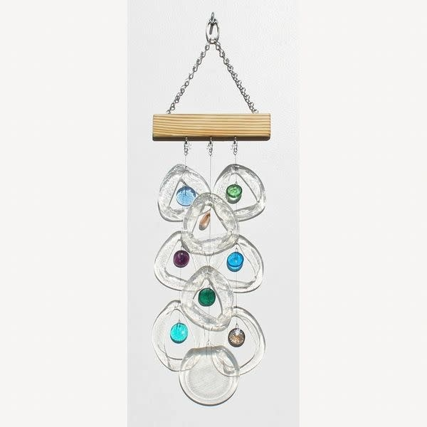 Fleurish Home Sea Glass Upcycled Glass Wind Chime