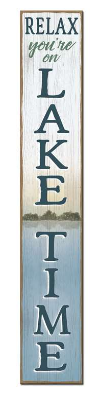 Fleurish Home Relax, You're on Lake Time - Porch Boards Singular