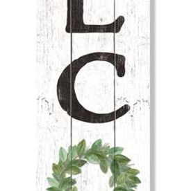 Fleurish Home Welcome - Green Wreath Porch Boards Singular