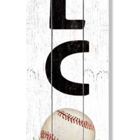 Fleurish Home Welcome - Baseball - Porch Boards Singular