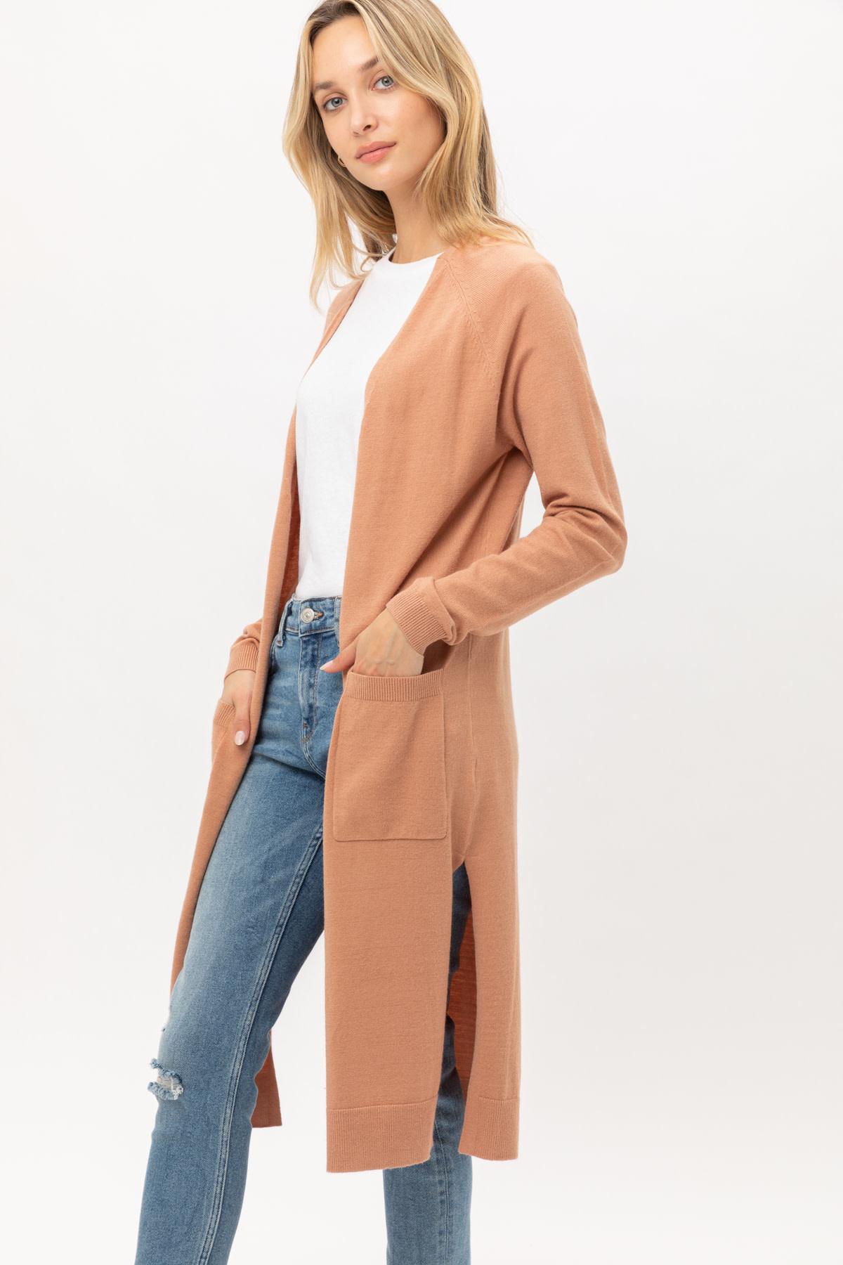 Fleurish Home Long Lightweight Cardigan w Pockets