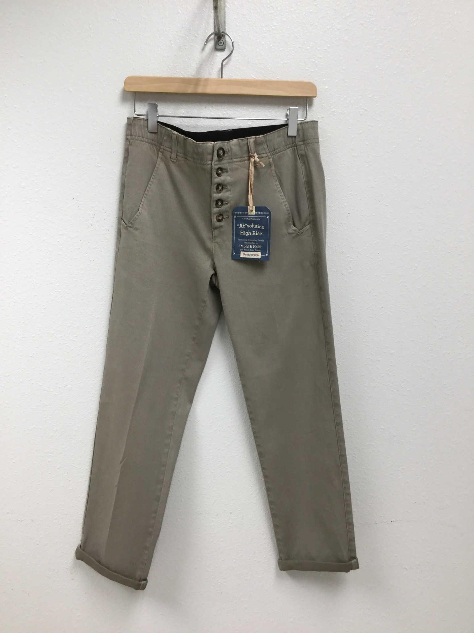 Democracy Luxe Touch High Rise Moonrock Button Fly Trouser