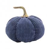 Fleurish Home Medium Blue Corduroy Pumpkin