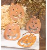 Fleurish Home Rusty Metal Jack O'Lantern Ornamental Pumpkin