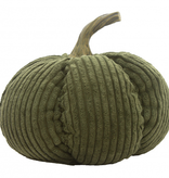 Fleurish Home Small Green Corduroy Pumpkin