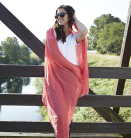 Fleurish Home Classic Insect Shield Scarf - Coral