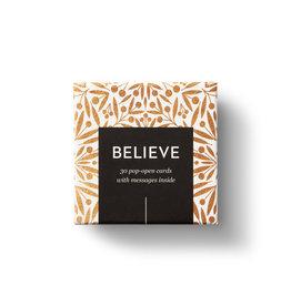 Compendium Believe Thoughtfulls Pop Open Cards Box of 30