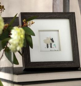 """Sharon Nowlan The Little Lamb Pebble Art 6"""" Square"""
