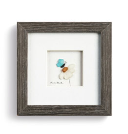 """Sharon Nowlan A Soft Place to Land Wall Pebble Art 6""""square"""
