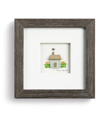 "Sharon Nowlan Happy Home Pebble Art  6""square"