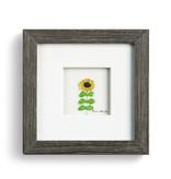"Sharon Nowlan Reach For the Sun Pebble Art  6""square"