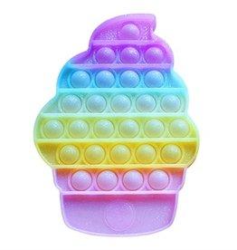 Top Trenz Glitter Ice Cream Cone OMG Pop Fidgety Popper