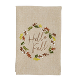 Mudpie HELLO FALL FRENCH KNOT TOWEL