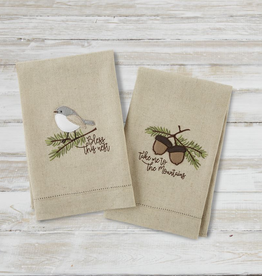 Mudpie FALL BIRD APPLIQUE TEA TOWEL
