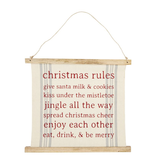 Mudpie HOLIDAY RULES REVERSE SIGN