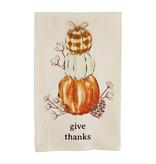 Mudpie GIVE THANKS FLOUR SACK TOWEL