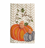 Mudpie SHARE EMBROIDERED PMPKIN TOWEL