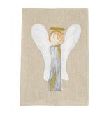 Mudpie ANGEL XMAS HAND-PAINTED TOWEL