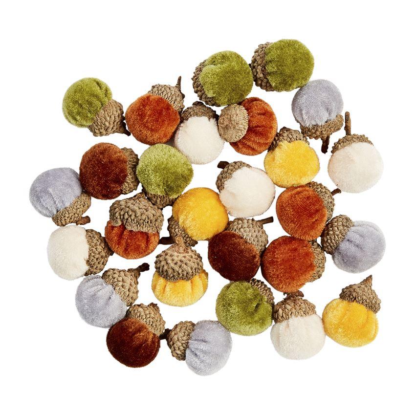 Mudpie Tiny Velvet Acorn Decor  *sold individually