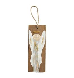 Mudpie ANGEL CHRISTMAS WOOD ORNAMENT