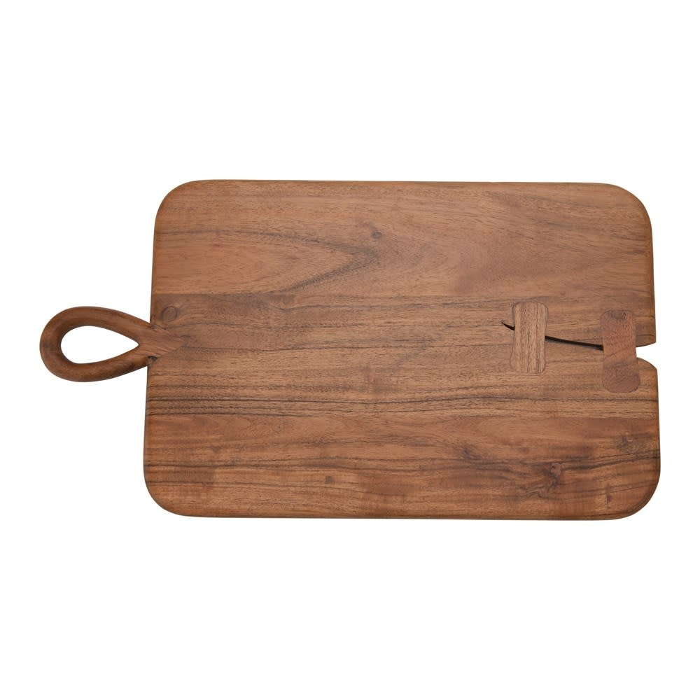 Fleurish Home Acacia Wood Charcuterie/Cutting Board with Handle