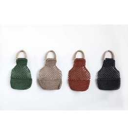 Fleurish Home Woven Jute Palmas Handbag w/ Wood Handles (choice of 4 colors)