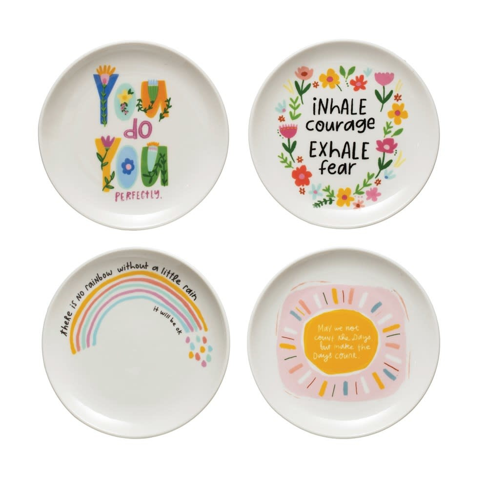Fleurish Home Motivational Quote Colorful Mini Dish (choice of 4 styles)