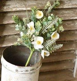 "Fleurish Home 21"" Alabaster Poppy Bush *last chance"