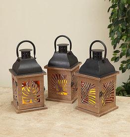 Fleurish Home Fern Design Lantern w/ LED Candle (choice of 3 styles) *last chance