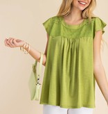 Fleurish Home EYELET DETAIL BABY DOLL TOP *last chance